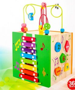 Cub din lemn sortator si xilofon