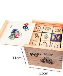 Cub lemn ABC