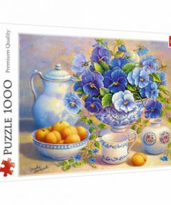 Puzzle Trefl Buchet albastru, 1000 piese