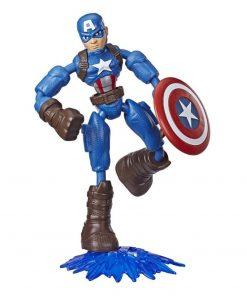 Figurina flexibila Avengers Bend and Flex, Captain America (E7869)