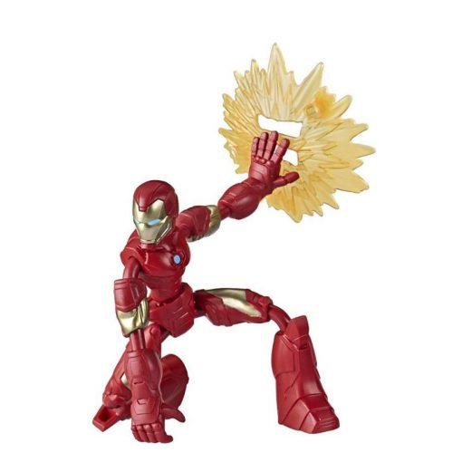 Figurina flexibila Avengers Bend and Flex, Iron Man (E7870)