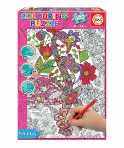 Puzzle Colouring Flamingo, 300 piese