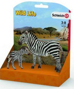 Figurina schleich zebra si pui de zebra