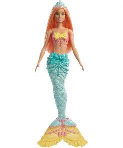Papusa Barbie Dreamtopia Sirena, Portocaliu (FXT11)