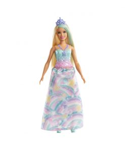Papusa Barbie Dreamtopia Printesa, Verde (FXT14)
