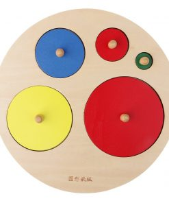 Joc educational Montessori 5 cercuri colorate