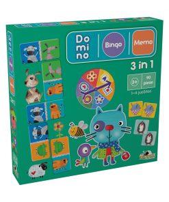 Joc Noriel 3 in 1 (Bingo, Memo, Domino) II