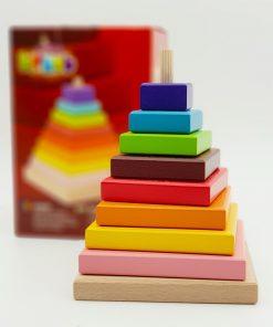 Jucarie din lemn Piramida