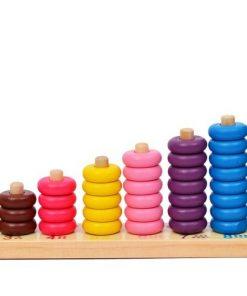 Sortator cerculete colorate din lemn