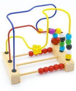 Labirint cu bile Montessori si abac