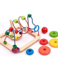 Labirint cu bile si turn Montessori
