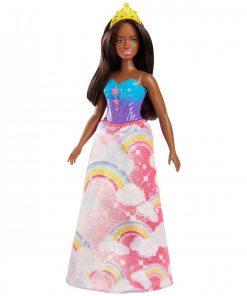 Papusa Barbie Dreamtopia, Printesa creola, FJC98