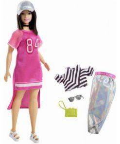 Papusa Barbie Fashionista Cu Hainute Sport Look