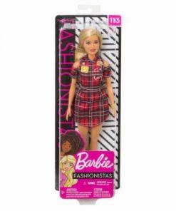 Papusa Barbie Fashionista Cu Rochita Rosie