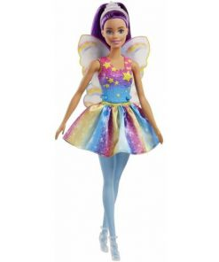 Papusa Mattel Barbie Dreamtopia Zana in rochie curcubeu
