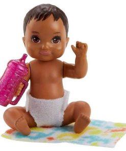 Papusa bebelus Barbie Babysitter Brunette