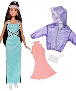 Papusa cu haine de schimb Barbie Fashionistas 87 Sweet & Sporty