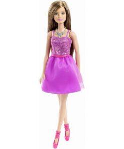 Papusi Barbie Tinute Stralucitoare Rochita Mov