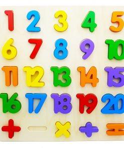 Puzzle incastru din lemn Cifre