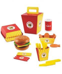 Set din lemn Fast food