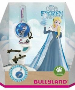 Set figurine Frozen - Elsa si Olaf cu medalion