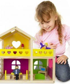Tooky Toy Casa cu Papusi Mobilata