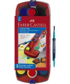 Acuarele Connector Faber-castell 24 Culori / Cutie Plastic