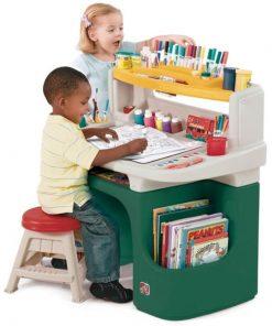 Masuta Birou Pentru Copii Art Master Activity Desk Verde