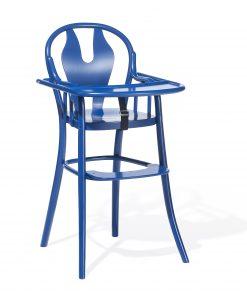 Scaun pentru copii, din lemn de fag Petit 114 Blue, l48xA57xH93 cm
