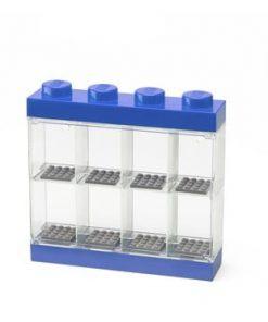 Cutie depozitare 8 minifigurine LEGO®, albastru