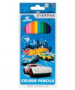 Set 12 creioane colorate Starpak, Hot Wheels