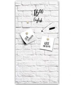 Tablă magnetică Styler White Bricks, 30 x 60 cm