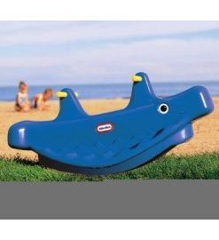 Little Tikes - Balansoar balena albastru