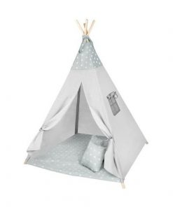 Cort copii XXL Teepee, Cort, Covoras, 3 Perne Iso Trade MY17243