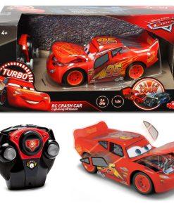 Masinuta McQueen Crazy Crash Cars 3 RC 1:24