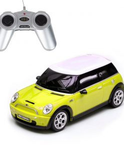 Masina cu telecomanda Rastar Mini Cooper S, 1:18, Galben