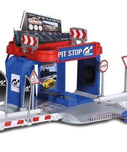 Set Garaj cu masinuta Majorette Vision Gran Turismo Pit Stop, Sport
