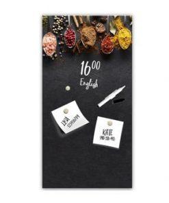 Tablă magnetică Styler Dark Spoons, 30 x 60 cm