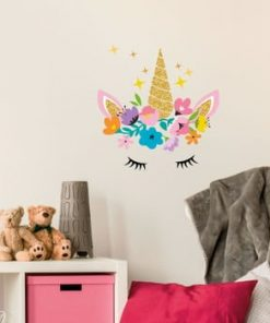 Set autocolante pentru perete Ambiance Magic Unicorn