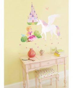 Set autocolante Ambiance Princess, Unicorn and Castle