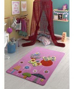 Covor pentru copii Confetti Butterfly Effect, 100 x 150 cm, roz