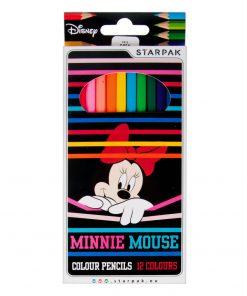 Set 12 creioane colorate Starpak, Minnie Mouse