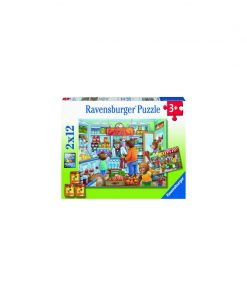 PUZZLE MAGAZIN ALIMENTAR, 2x12 PIESE
