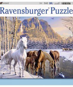 Puzzle Cai Iarna, 200 Piese