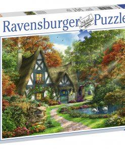 Puzzle Cabana Din Padure, 500 Piese