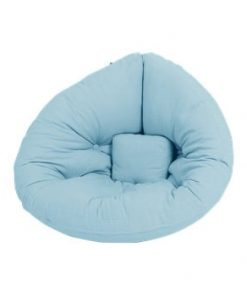 Fotoliu extensibil pentru copii Karup Design Mini Nido Light Blue