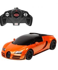 Masina cu telecomanda Rastar Bugatti Veyron Grand Sport Vitesse, 1:18, Portocaliu