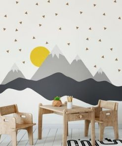 Autocolant Ambiance Giant Kid Sticker Scandinavian Mountains Nordika
