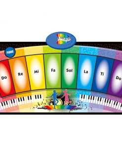 Covor muzical cu activitati Rainbow Piano 35x80 cm