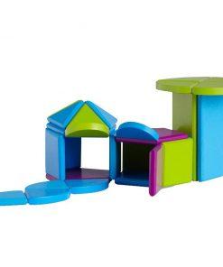Set de construit 31 piese Magnet Blocks Summer House